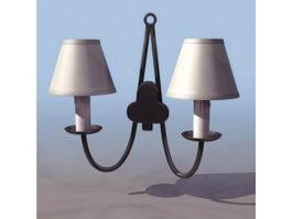 Metal wall lamp 3d preview