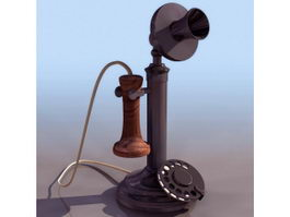 Candlestick telephone 3d preview