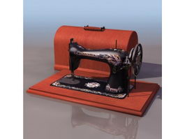 Singer sewing machine 3d preview