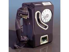 Payphone coin-operated public telephone 3d preview