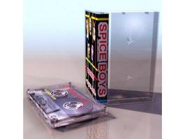 Audio cassette tap 3d preview