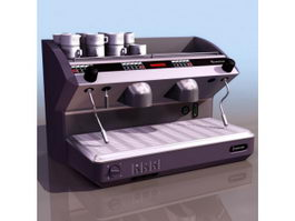 Coffee machine 3d model preview