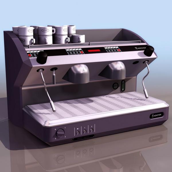Coffee machine 3d rendering