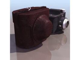 Agfa Clack box camera 3d model preview