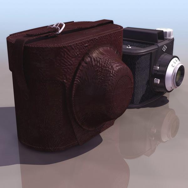 Agfa Clack box camera 3d rendering