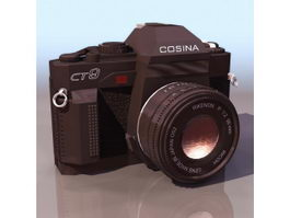 Cosina compact camera 3d model preview