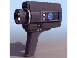 Super 8 film camera 3d model preview