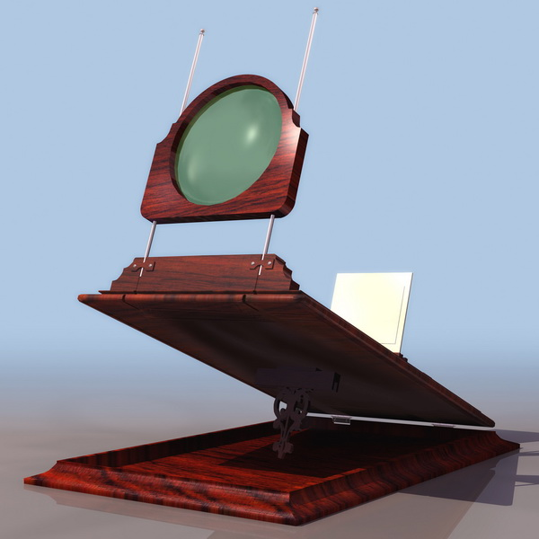 Optical experiment instrument 3d rendering