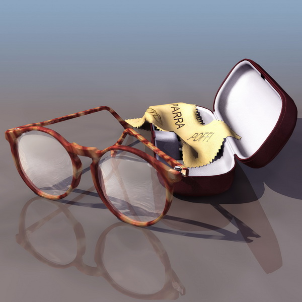 Reading glasses 3d rendering