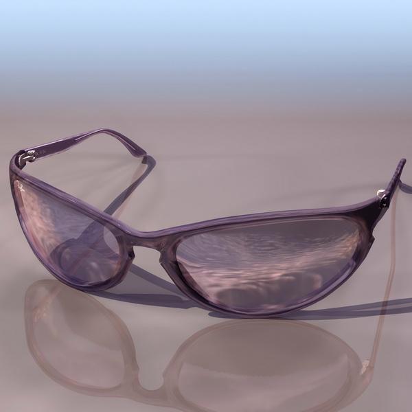 RAYBAN sunglass 3d rendering