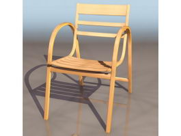 Stackable plywood chair 3d preview