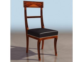 Luxurious wood dining chair 3d preview