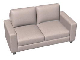 Two-seater upholstered loveseat 3d preview