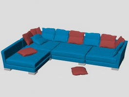 Corner sectional sofa 3d preview
