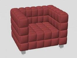 Gules cloth art sofa 3d model preview