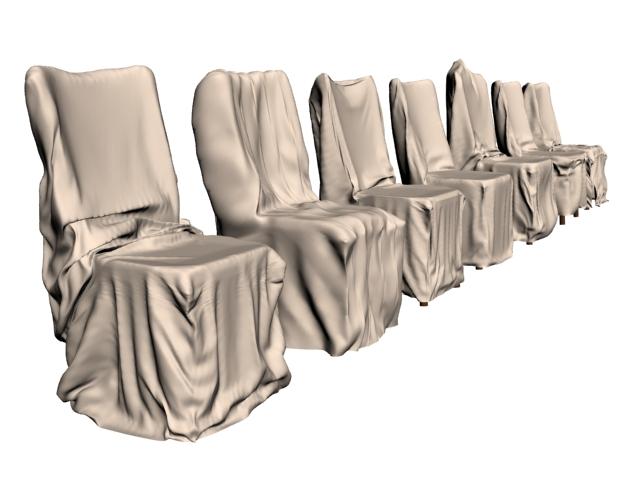 Hotel furniture banquet chair wedding chair 3d rendering