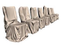 Hotel furniture banquet chair wedding chair 3d preview