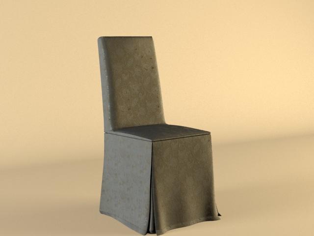 Hotel banquet chair 3d rendering