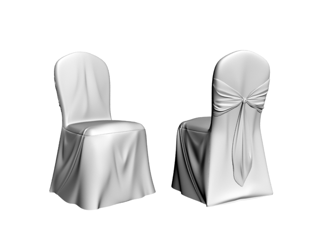 High grade hotel chair 3d rendering