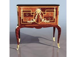 Antique furniture drinks cabinet 3d preview