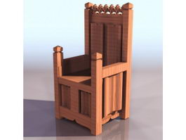 Medieval throne chair 3d preview