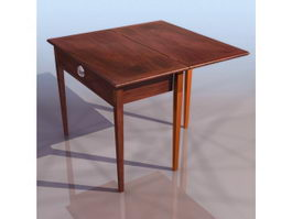 Antique folding table 3d preview
