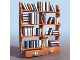 Chippendale book shelf 3d preview