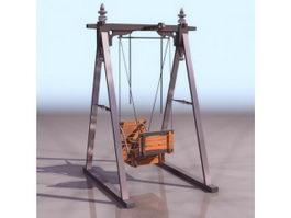 Garden swing chair 3d preview