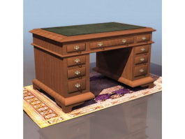 Ancient England writing desk 3d preview