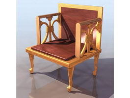 Ancient Egyptian throne chair 3d preview