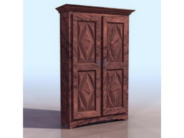 Ancient cupboard 3d preview