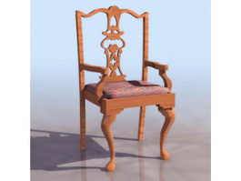 Chippendale-style chair 3d preview