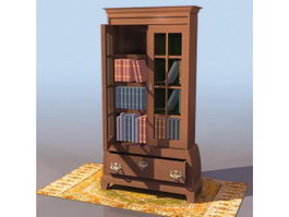Thomas Chippendale style bookcase 3d preview