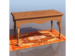 Chippendale style sofa table 3d preview