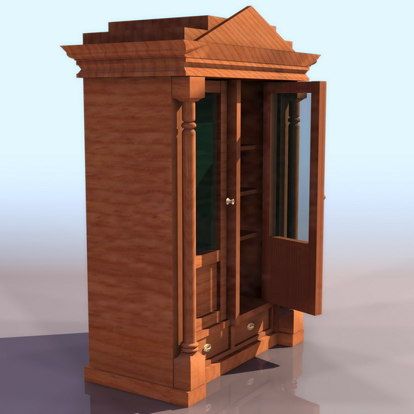 Ancient display cabinet 3d rendering