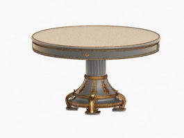 Antique coffee table 3d preview
