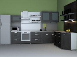 Modern Western kitchen 3d preview