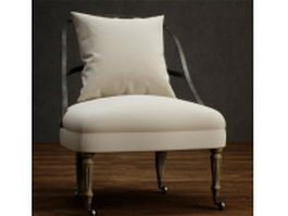 Upholstered leisure chair 3d preview
