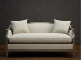 Classic fabric loveseat 3d preview