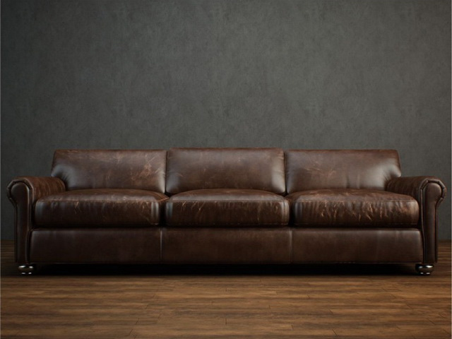 3 seater leather cushion couch 3d model preview