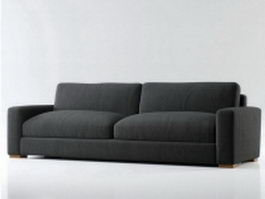 Fabric two seater couch 3d preview