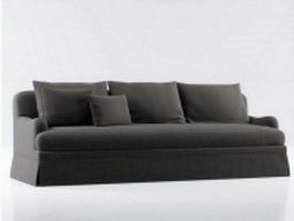 Fabric three seater couch 3d model preview