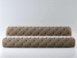 Floor cushion couch 3d model preview