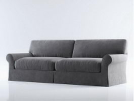 Upholstered settee loveseat 3d preview