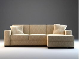 Upholstered corner sectional sofa 3d preview