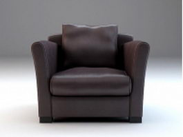 Upholstered French armchair 3d preview
