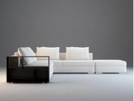 Modular fabric sectional sofa 3d model preview