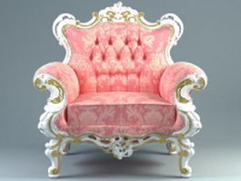 Baroque style armchair 3d preview