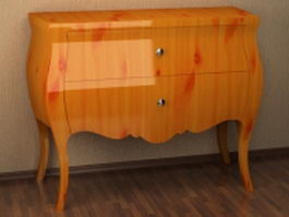 Antique commode 3d preview