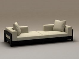 2 piece sectional couch 3d preview